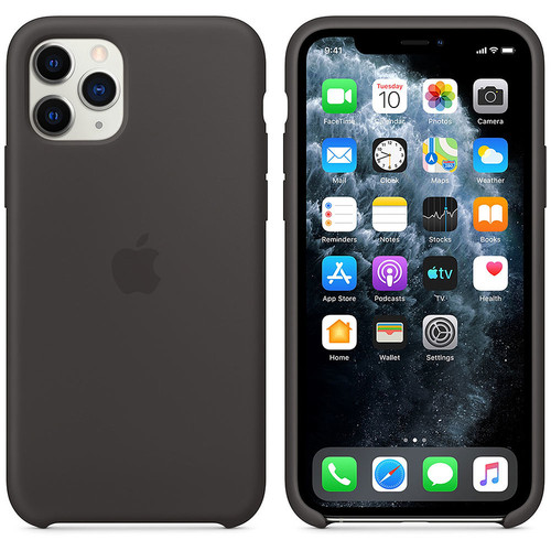 Apple iPhone 11 Pro - Coque en silicone - Noir