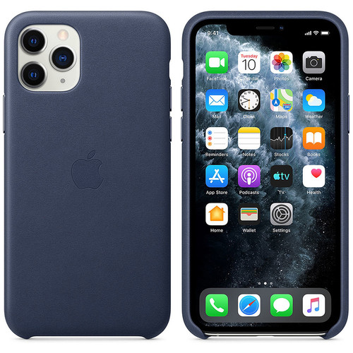 Apple iPhone 11 Pro - Coque en cuir - Bleu Nuit