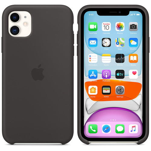Apple Coque en silicone - iPhone 11 - Noir