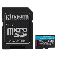 Kingston Canvas Go! Plus - Micro SDXC - UHS-I V30 A2 - 512 Go
