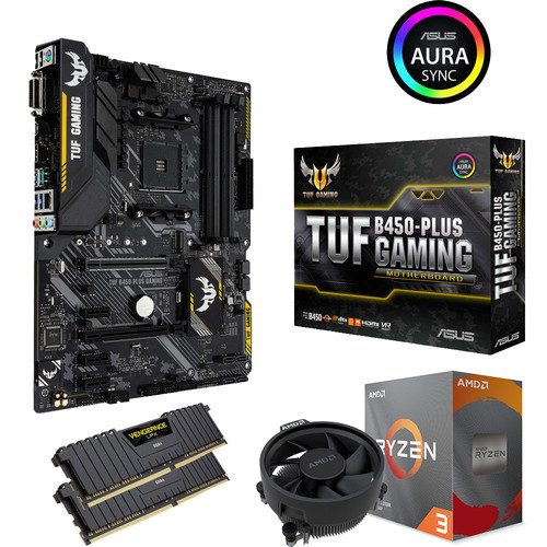 Kit évo Ryzen 3 3300X (3.8 GHz) + Asus TUF B450 PLUS GAMING + 16 Go