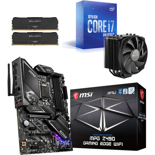 Kit évo Core i7-10700K + MSI MPG Z490 GAMING EDGE WIFI + Dark Rock 4 + 16 Go
