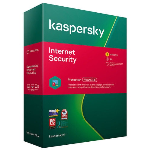 Kaspersky Internet Security - Mise à jour - 1 poste / 1 an