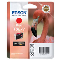Cartouche d'encre Rouge T0877 UltraChrome Hi-Gloss2, Epson