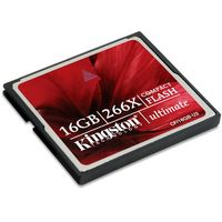 Carte M�moire Compact Flash Kingston Ultimate 266X, 16 Go