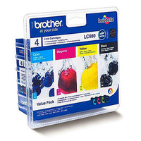 Pack 4 cartouches d'encre couleur LC980VALBP, Brother
