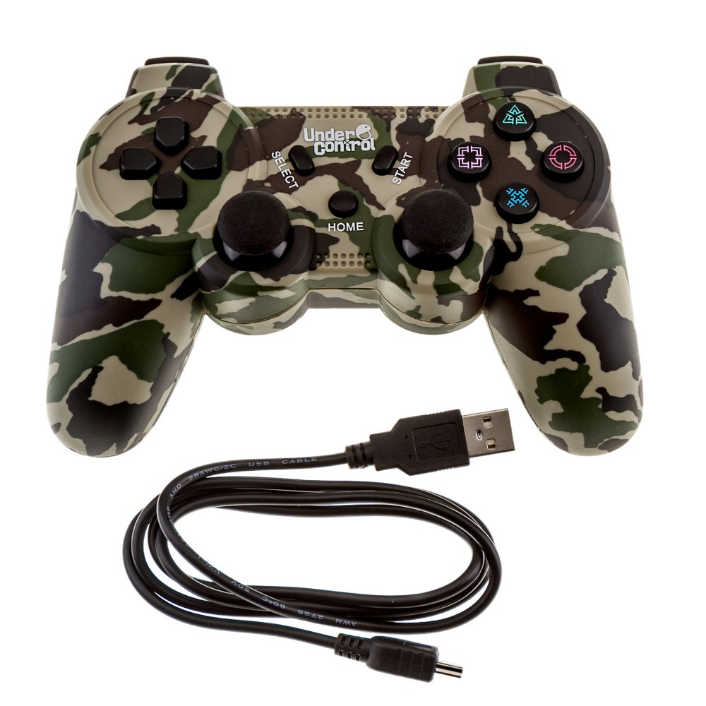 manette sans fil undercontrol coloris camouflage ps3. Black Bedroom Furniture Sets. Home Design Ideas