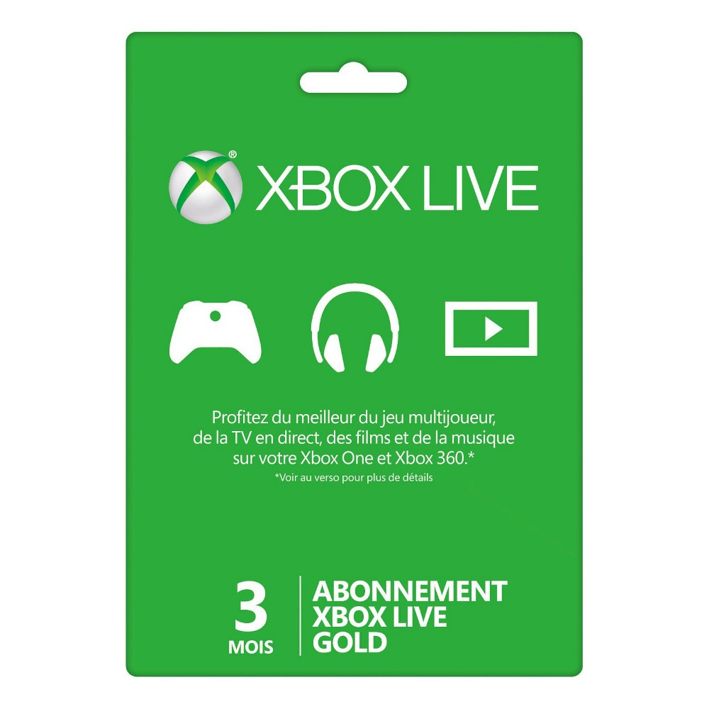 abonnement xbox live gold 3 mois top achat. Black Bedroom Furniture Sets. Home Design Ideas