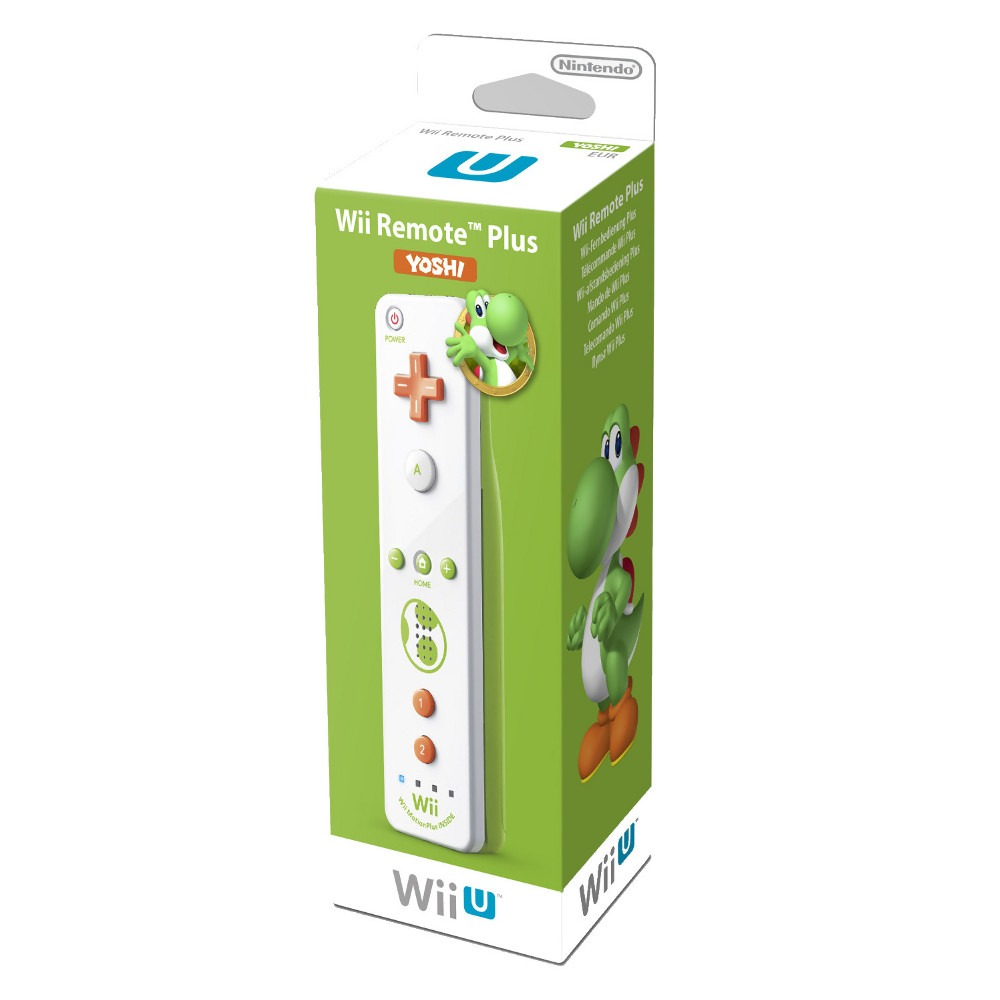 wiimote plus coloris yoshi nintendo wii u top achat. Black Bedroom Furniture Sets. Home Design Ideas