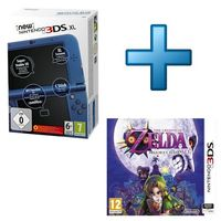 New Nintendo 3DS XL Bleu M�tallique + The Legend of Zelda : Majora's Mask 3D