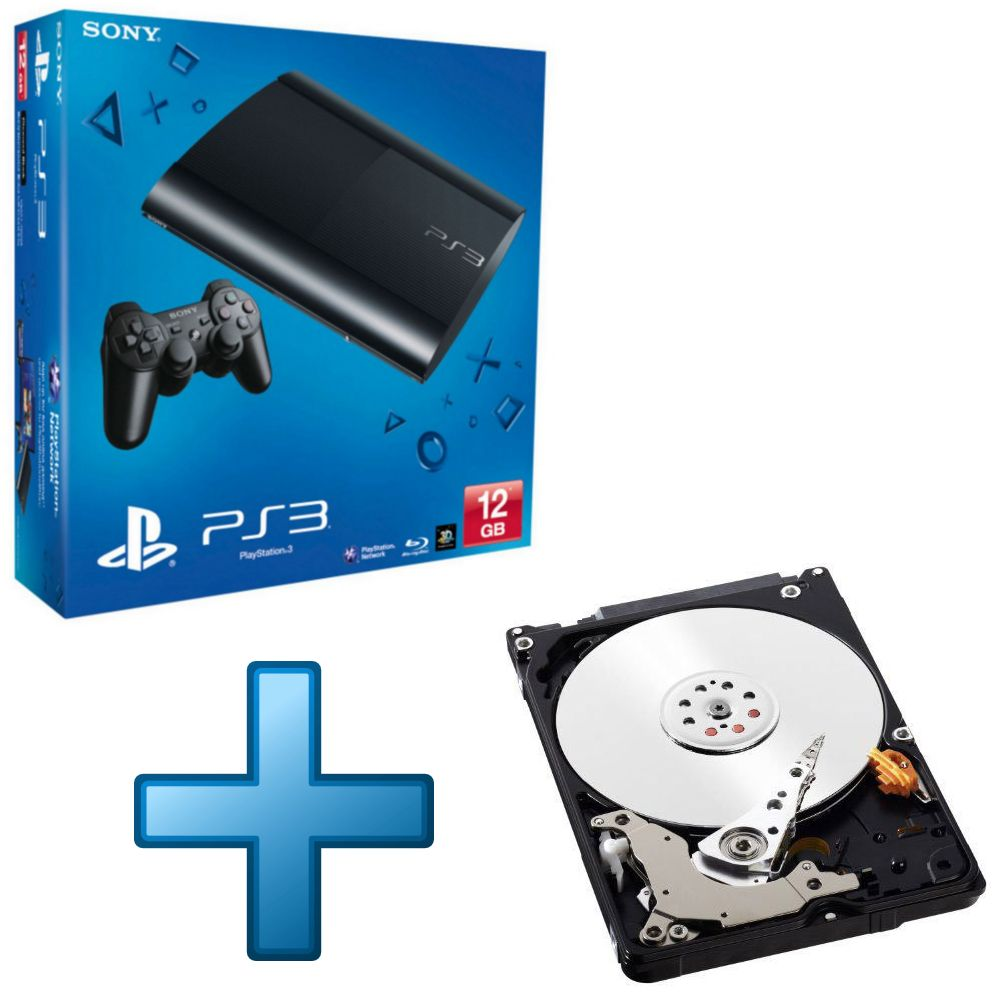 sony ps3 ultra slim 12 go disque dur western digital blue mobile 1 to top achat. Black Bedroom Furniture Sets. Home Design Ideas