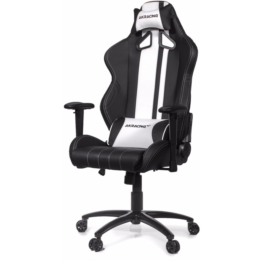 Akracing rush blanc noir top achat for Chaise gamer pas cher
