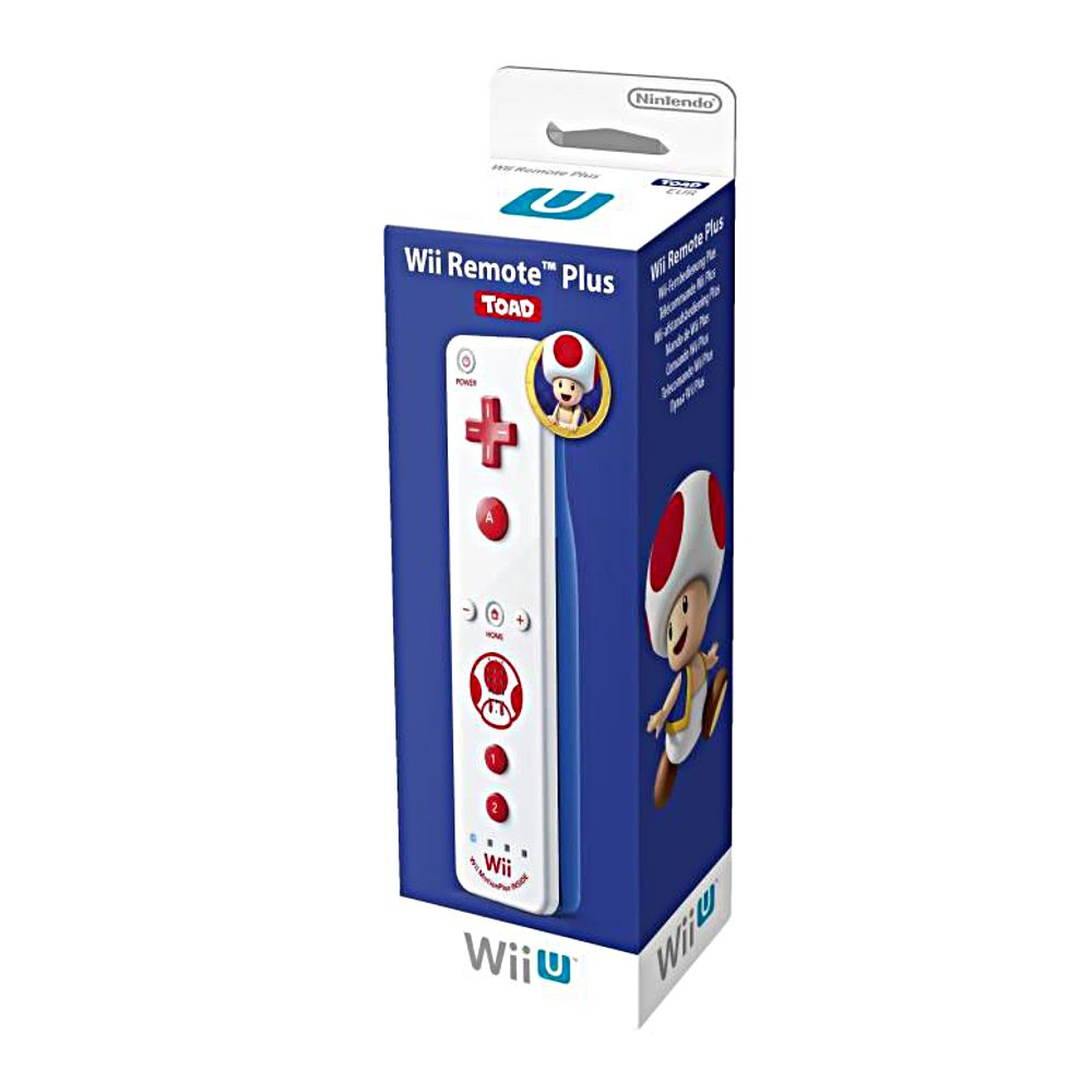 wiimote plus coloris toad nintendo wii u top achat. Black Bedroom Furniture Sets. Home Design Ideas