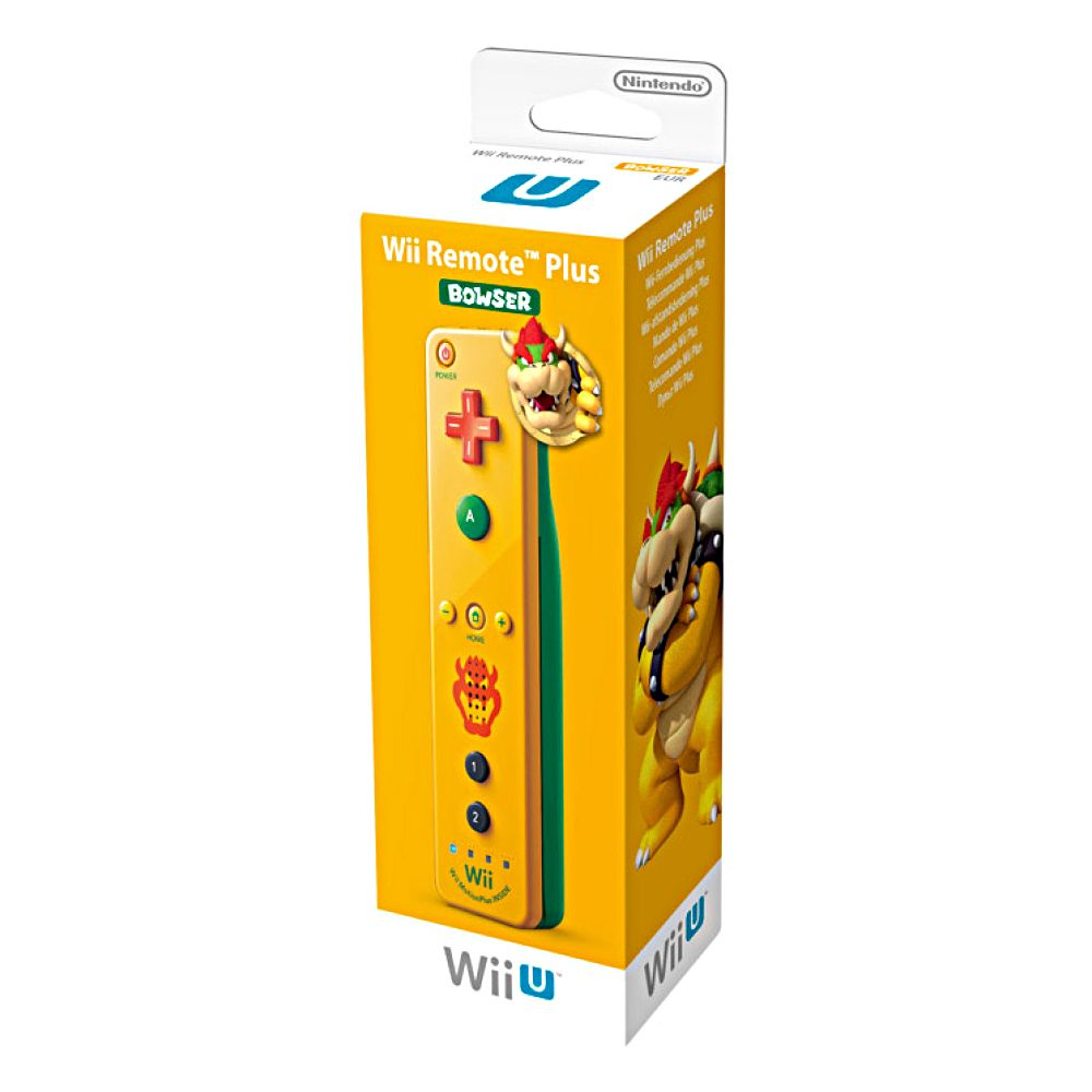 wiimote plus coloris bowser nintendo wii u top achat. Black Bedroom Furniture Sets. Home Design Ideas