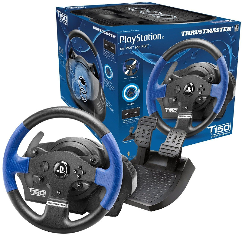 thrustmaster t150 force feedback pc ps3 ps4 achat pas cher avis. Black Bedroom Furniture Sets. Home Design Ideas