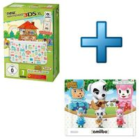 New Nintendo 3DS XL + Animal Crossing : Happy Home Designer + Pack de 3 Amiibo