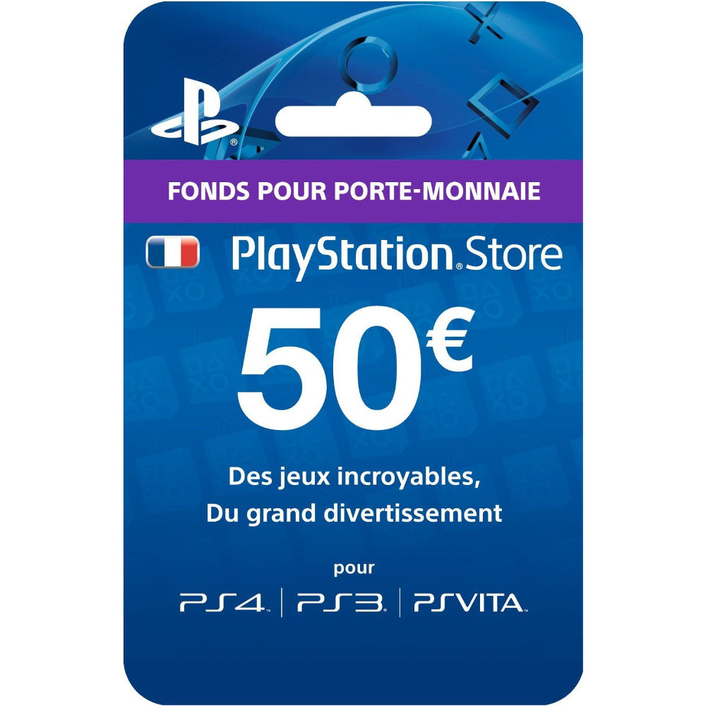 playstation network livecard 50 euros achat pas cher avis. Black Bedroom Furniture Sets. Home Design Ideas