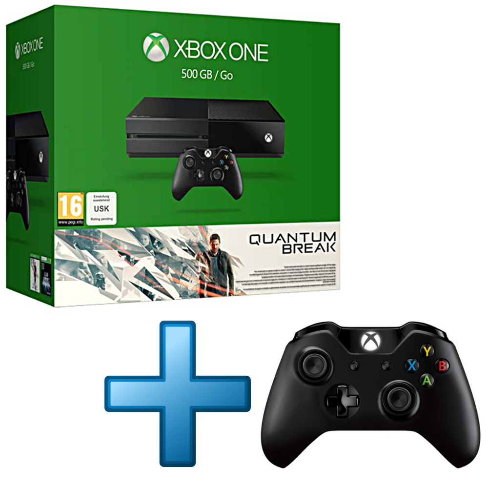 microsoft xbox one 500 go quantum break manette sans. Black Bedroom Furniture Sets. Home Design Ideas