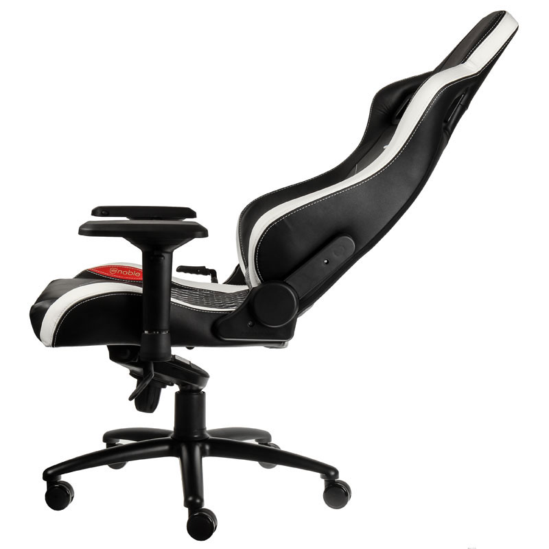 noblechairs epic cuir noir blanc et rouge achat pas cher avis. Black Bedroom Furniture Sets. Home Design Ideas