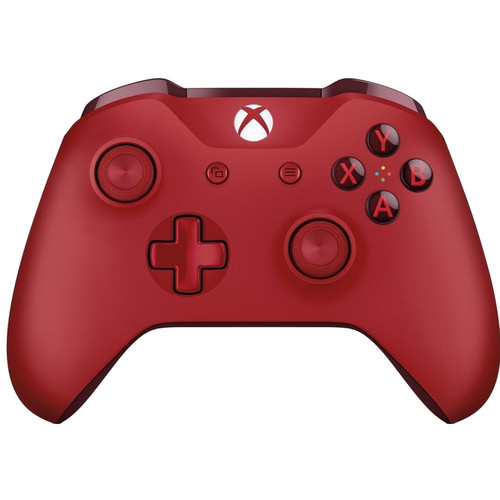 Microsoft Manette sans fil Rouge - Xbox one / PC
