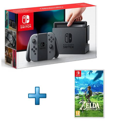 Nintendo switch noir the legend of zelda breath of for Achat maison zelda