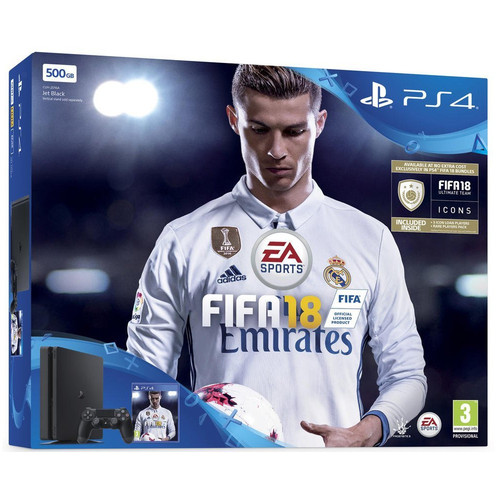 Sony PlayStation 4 Slim (500 Go) - Noir + FIFA 18