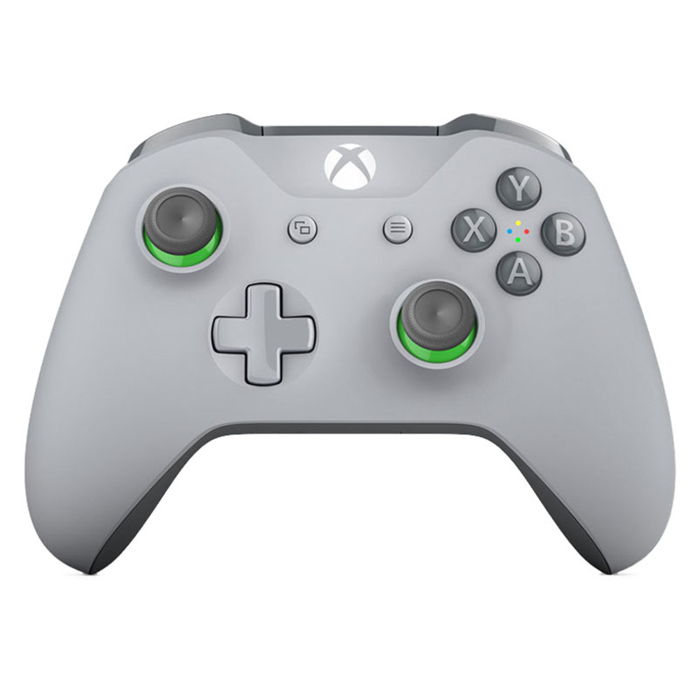 microsoft manette sans fil v3 gris vert xbox one pc top achat. Black Bedroom Furniture Sets. Home Design Ideas