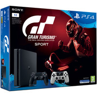 Sony PlayStation 4 Slim (1 To) + 2e manette DS4 GT Sport + Gran Turismo Sport