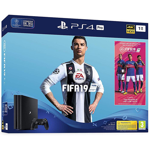 Sony PlayStation 4 Pro (1 To) + FIFA 19