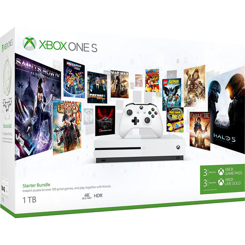 Microsoft Xbox One S (1 To) + 3 mois Game Pass & Xbox Live