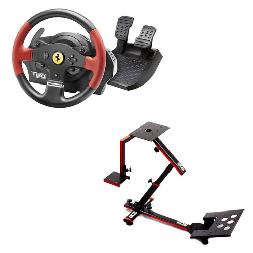 Thrustmaster T150 Ferrari Force Feedback + 69DB Wheel Stand EVO