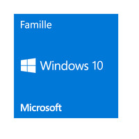 Microsoft Windows 10 Famille, 64 bits, OEM - Version DVD