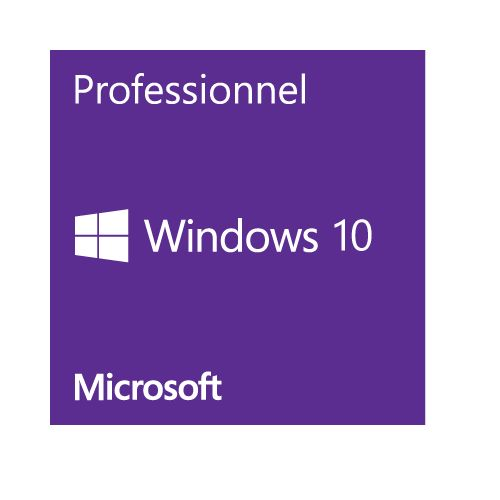 Microsoft Windows 10 Professionnel - 64 bits - OEM (version DVD)