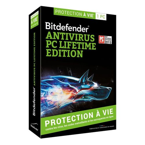 bitdefender antivirus pc lifetime edition 1 pc top achat. Black Bedroom Furniture Sets. Home Design Ideas