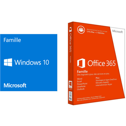 windows 10 famille 64 bits oem version dvd office 365 famille premium top achat. Black Bedroom Furniture Sets. Home Design Ideas