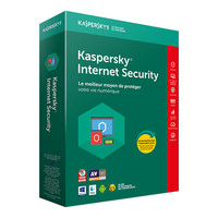 Kaspersky Internet Security 2018, 5 postes / 1 an