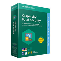 Kaspersky Total Security 2018, 5 postes / 1 an