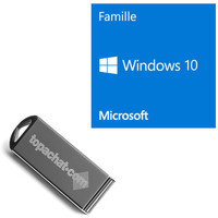 Microsoft Windows 10 Famille, 64 bits, OEM - Version DVD + Clé USB