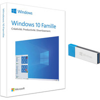 Microsoft Windows 10 Famille, 32/64 bits - Version Cl� USB