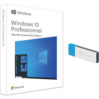 Microsoft Windows 10 Professionnel, 32/64 bits - Version Cl� USB