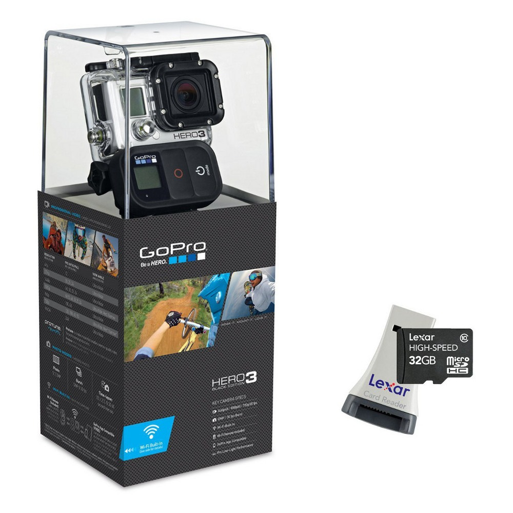 gopro hero3 black edition carte micro sdhc 32 go adaptateur usb top achat. Black Bedroom Furniture Sets. Home Design Ideas