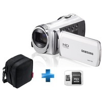 Cam�scope Samsung F920 Blanc + Housse + Carte Samsung SDHC 8 Go