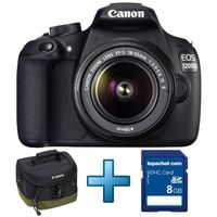 Canon EOS 1200D + Objectif 18-55 mm IS II + Sacoche Canon + Carte SDHC 8 Go