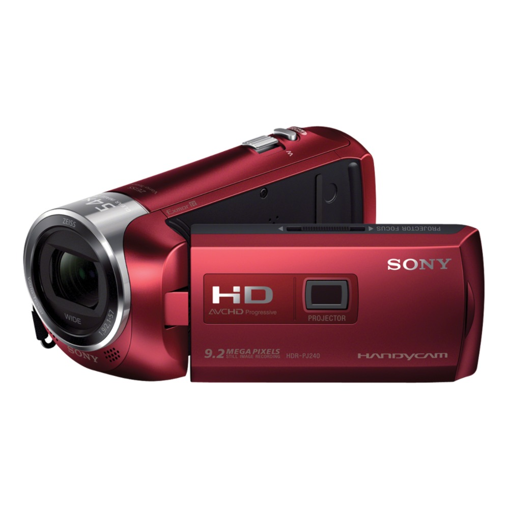 cam scope sony hdr pj240 rouge top achat. Black Bedroom Furniture Sets. Home Design Ideas