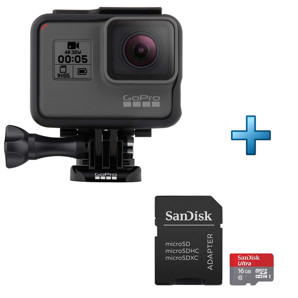 gopro hero5 black carte micro sd 16 go top achat. Black Bedroom Furniture Sets. Home Design Ideas