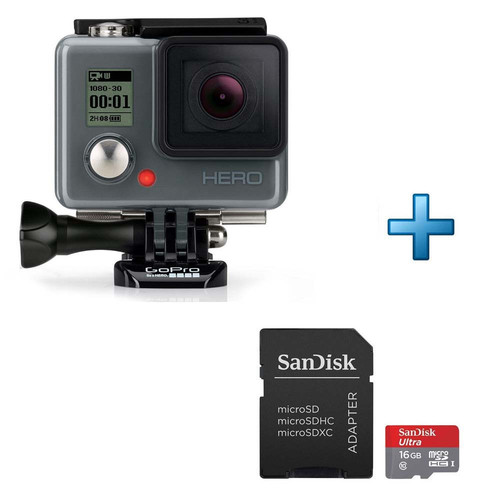 gopro hero carte m moire micro sd 16 go top achat. Black Bedroom Furniture Sets. Home Design Ideas