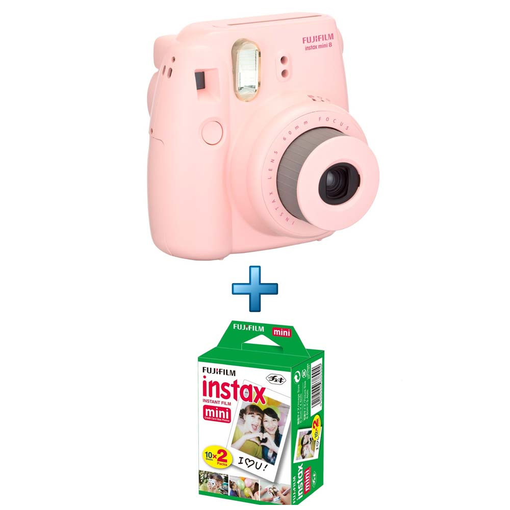 instax mini 8 rose 20 films instax mini achat pas cher. Black Bedroom Furniture Sets. Home Design Ideas