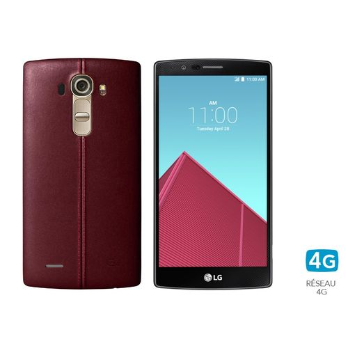 lg g4 32 go cuir rouge 4g 5 5 quad hd incurv top achat. Black Bedroom Furniture Sets. Home Design Ideas