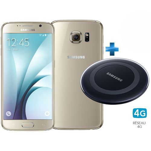 samsung galaxy s6 or stellaire 4g chargeur induction bleu top achat. Black Bedroom Furniture Sets. Home Design Ideas