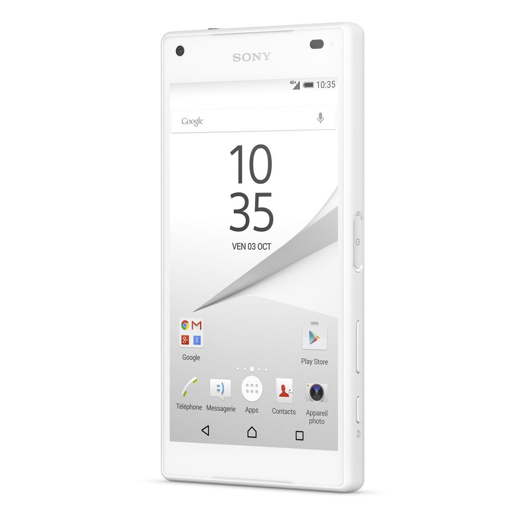 sony xperia z5 compact 4g blanc 4 6 hd top achat. Black Bedroom Furniture Sets. Home Design Ideas